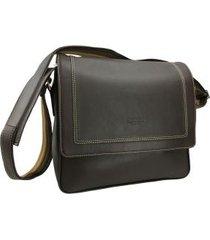 bolsa carteiro para notebook em couro 8409mo
