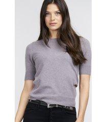 cashmere trui met korte mouwen