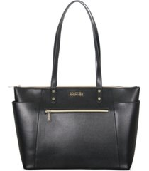 "kenneth cole reaction faux leather 15"" computer tote"