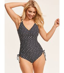 santa monica non padded v neck suit with adjustable sides
