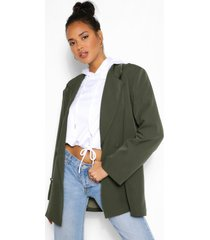 oversized pocket detail dad blazer, khaki