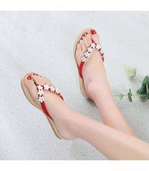la moda de verano mujer sandalias confortables flip flop zapatilla plana antideslizamiento