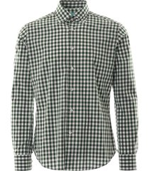 none of the above oxford shirt check | green check | notabrz-grn
