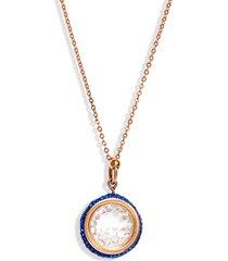 women's knotty crystal vessel pendant necklace