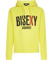 dsquared2 hoodie logo bisex fleece