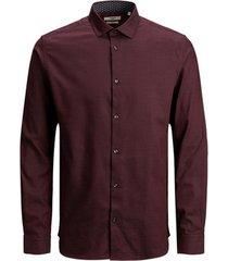 overhemd lange mouw jack & jones 12180159 jprblaoccasion l/s red mahogany/slim fit