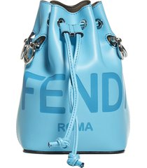 fendi mon tresor ff logo leather mini bucket bag