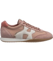 scarpe sneakers alte donna in pelle olympia