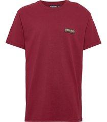 sase ss 1 t-shirts short-sleeved röd napapijri