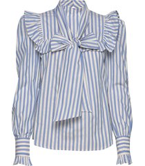 vivica stripes blouse lange mouwen blauw custommade