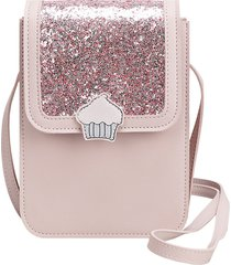 donne sequin tempo libero carino crossbody borsa telefono portatile a 3 strati borsa gelato modello borsas