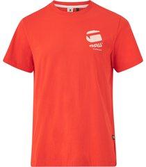 t-shirt big logo back grr r t ss