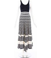 comme des garcons junya watanabe chevron striped knit maxi dress