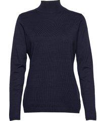 lana roll neck knit turtleneck polotröja svart minus
