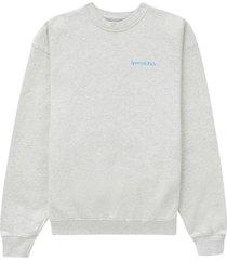 drink water crewneck sweatshirt heather grey
