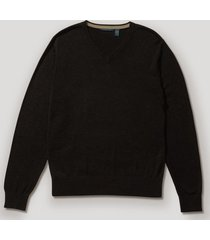sweater formal liso gris oscuro perry ellis
