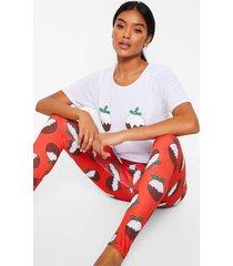 kerst toetjes pyjama set, red