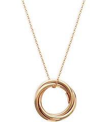 18k rose gold hoop pendant necklace