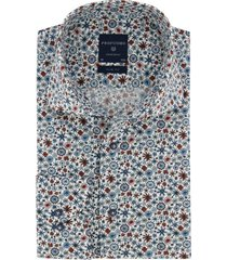 overhemd profuomo originale slim fit motief blauw