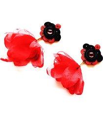 sutaszowe kolczyki flamenco 1