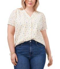 1.state trendy plus size eyelet blouse