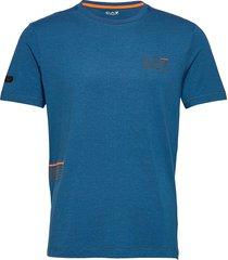 t-shirt t-shirts short-sleeved blå ea7