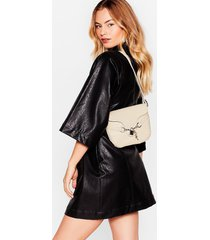 womens want croc's going on shoulder bag - stone