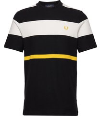 bold striped t-shirt t-shirts short-sleeved svart fred perry