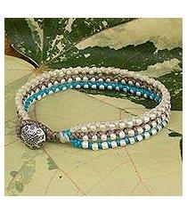 braided wristband bracelet, 'siam melody' (thailand)