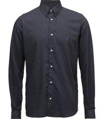 regular fit shirt with teddy logo. overhemd business blauw tonsure