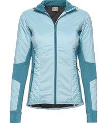 wmns helix ls zip outerwear sport jackets blå icebreaker