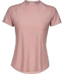 sport space dye tee t-shirts & tops short-sleeved rosa new balance