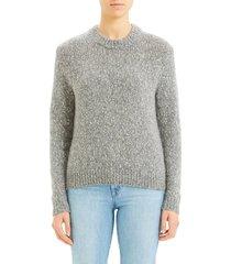 women's theory speckled tweed cotton, wool & alpaca sweater
