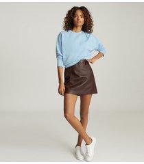 reiss bridgette - sweatshirt with seam detailing in blue, womens, size xl