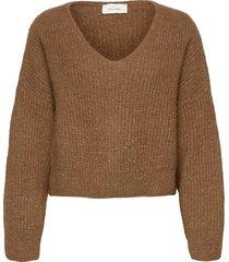 east stickad tröja brun american vintage