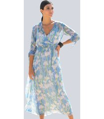 jurk alba moda blauw::offwhite