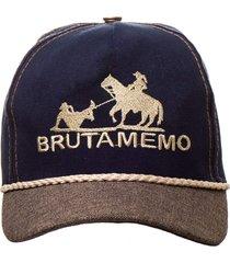 boné country bruta memo kapell azul marinho