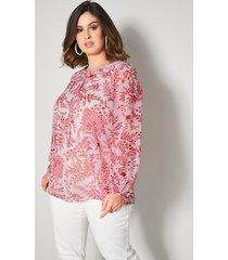 blouse sara lindholm rood::wit