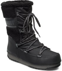 mb monaco wool mid wp shoes boots ankle boots ankle boots flat heel svart moon boot