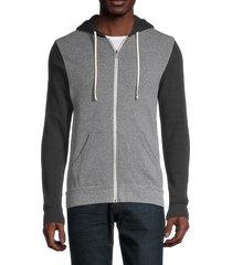 alternative men's rocky colorblock hooded jacket - grey - size s