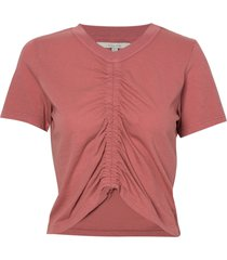 camiseta rosa chá france rosa malha algodão rosa feminina (whitered rose, gg)