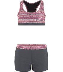 bikini a bustino (grigio) - bpc bonprix collection