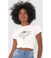 camiseta dimy lettering off-white