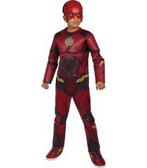 disfraz flash liga de la justicia relieve musculo niño