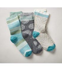 flower frolic socks, set of 3