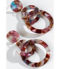 poppy interlocked circle drop earrings - multi