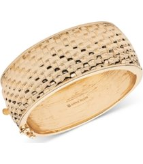 anne klein basket weave textured bangle bracelet