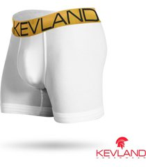 cueca boxer kevland microfibra branca elástico dourado branco