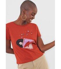 camiseta cantão vinil laranja