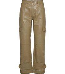 dunder leather trouser 20-04 leather leggings/broek groen holzweiler